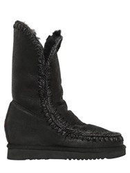 Mou 70Mm Eskimo Shearling Wedge Boots