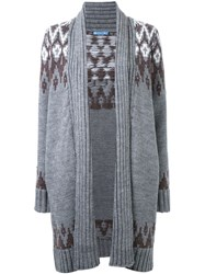 Loveless Argyle Knit Cardigan