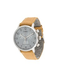 Timex Waterbury Classic Chronograph 40Mm Leather Strap Watch Neutrals