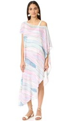 Mara Hoffman One Shoulder Cover Up Dusty Rose