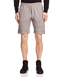 The Kooples Patch Classic Fleece Shorts Gray