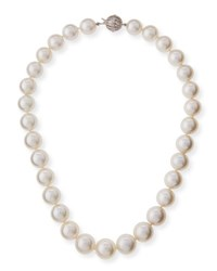 Belpearl South Sea Pearl Necklace With Diamond Ball Clasp 18