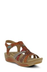 L'artiste Cloe Sandal Camel Leather