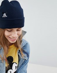 Levi's Mickey Mouse Embroidery Beanie Black