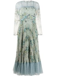 Red Valentino Floral Print Lace Trimmed Dress 60