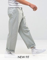 Asos Wide Leg Chinos In Light Blue Belgian Block