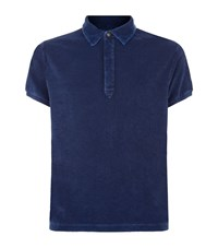 North Sails Short Sleeve Terry Polo Shirt Male Blue