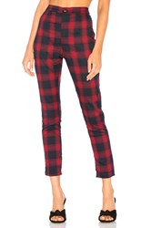 By The Way Darla Plaid Pant Red