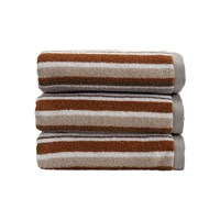 Christy Portobello Stripe Towel Pebble Hand Towel