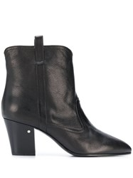 Laurence Dacade Cowboy Style Ankle Boots Black