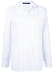 Sofie D'hoore Collared Blouse With Oversize Pocket White