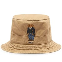 Polo Ralph Lauren Bear Embroidery Bucket Hat Brown