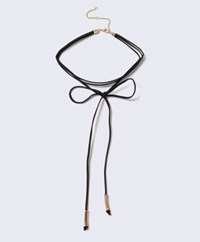 Topshop Tie Up Choker Mixed Metal