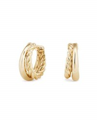 David Yurman 25.5Mm Pure Form 18K Gold Hoop Earrings