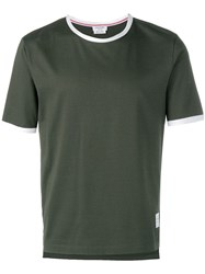 Thom Browne Jersey Ringer Tee Green