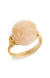 Bourbon And Boweties Women's Wire Wrapped Drusy Ring