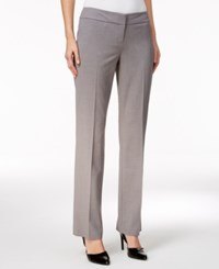 Nine West Taylor Straight Leg Trousers Smoke