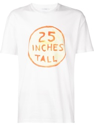 Kit Neale '25 Inches Tall' T Shirt White