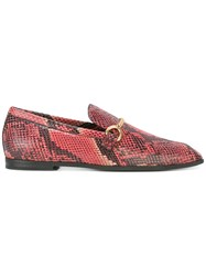 Stella Mccartney Python Effect Loafers Women Polyurethane Rubber 36 Red
