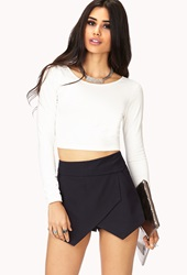 Forever 21 Striking Asymmetrical Skort Navy