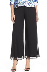 Petite Women's Alex Evenings Wide Leg Mesh Pants