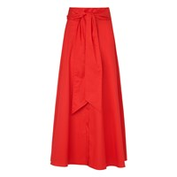 Lk Bennett L.K. Darly Full Cotton Skirts Red