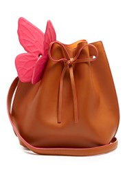 Sophia Webster Remi Leather Bucket Bag Tan Multi