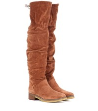 See By Chloe Suede Over The Knee Boots Brown