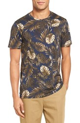 Vince Men's Leaf Print T Shirt