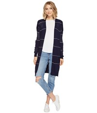 Culture Phit Monroe Striped Cardigan Navy Women's Sweater