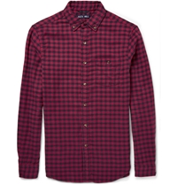 Alex Mill Button Down Collar Checked Cotton Shirt Red