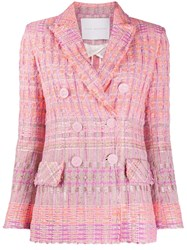 Giada Benincasa Woven Double Breasted Blazer 60