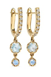Larkspur And Hawk Ivy 14 Karat Gold Diamond Earrings