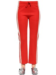 Etoile Isabel Marant Stretch Viscose Jersey Jogger Pants Red