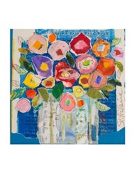 Marmont Hill Floral Composition Painting Print On Wrapped Canvas Blue Multi