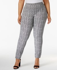 Alfani Plus Size Herringbone Print Skinny Pants Only At Macy's Broken Lines
