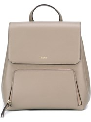 Dkny Zip Pocket Backpack Nude Neutrals