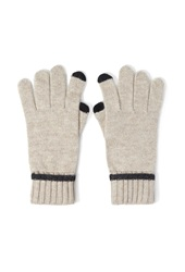 Forever 21 Marled Knit Texting Gloves Oatmeal Charcoal