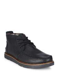 Toms Textured Suede Chukka Boots Black