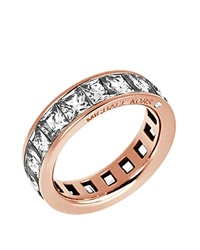 Michael Kors Square Cut Cubic Zirconia Ring Rose Gold