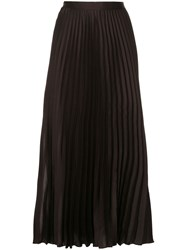 Ginger And Smart Depth Pleat Skirt Brown