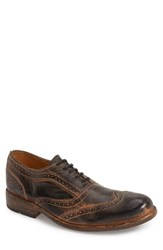 Men's Bed Stu 'Corsico' Wingtip Oxford Black Rustic Rust