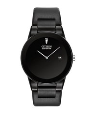 Citizen Axiom Eco Drive Stainless Steel Black Watch