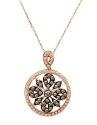 Levian Chocolate Diamond Pendant In 14K Strawberry Gold 14K Rose Gold