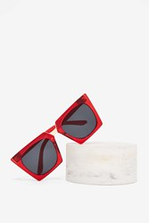 Kitty Corner Angled Shades Red