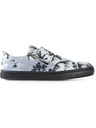 Opening Ceremony Palm Tree Velcro Sneakers Black