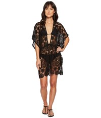 Echo Design Shell Lace Open Front Caftan Black Clothing