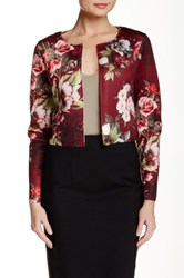 Luma Floral Print Crop Jacket Multi