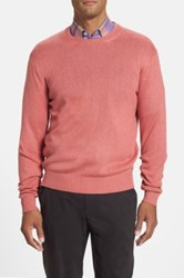 Peter Millar Classic Fit Silk Crewneck Sweater Red