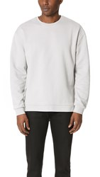 Won Hundred Xander Side Zip Crew Sweatshirt Grey